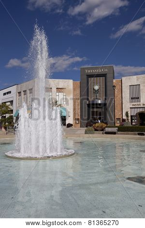 COLUMBUS, OHIO - OCTOBER, 8, 2014:  Easton Town Center in Columbus, Ohio is anchored by Macy's and Nordstroms and includes an additional 240 other retail shops.