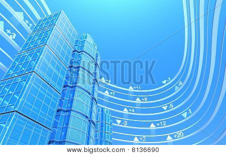 Real estate exchange - concept background