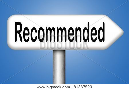 poster of recommended top quality product review recommendation for best choice optimal solution