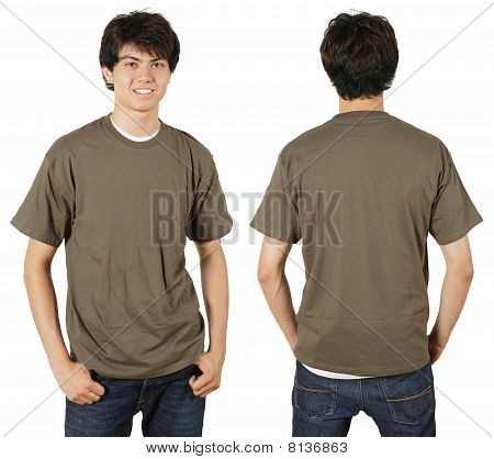 Male With Blank Chestnut Shirt