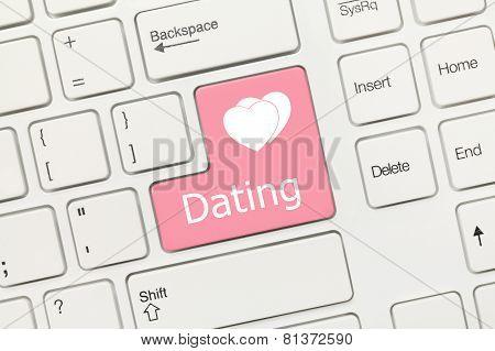 White Conceptual Keyboard - Dating (pink Key)