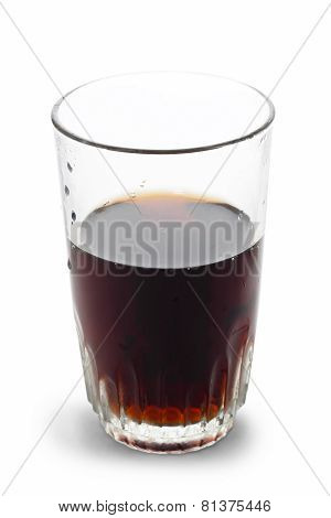 coke glass isolated on white background