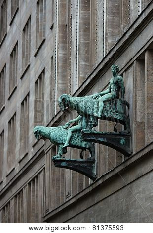 Sculpture On Facade