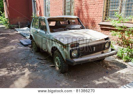 Abandoned Broken Russian Automobile