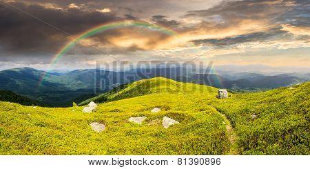 Path Among Stones On Mountain Top