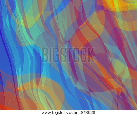 Abstract Illustration Colorful Curtain