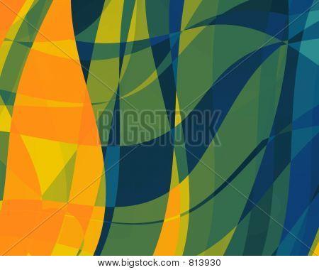 Abstract Illustration Orange-Blue