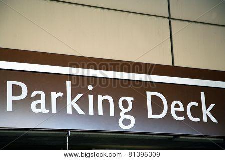 Parking Deck sign