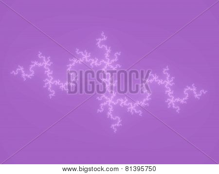 Purple fractal decorative background