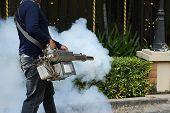 Fogging mosquito to prevent of dengue fever poster