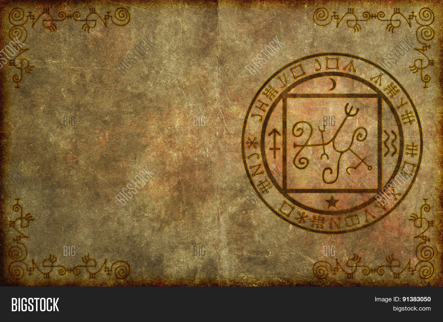 Ancient Magical Page Image Photo Free Trial Bigstock