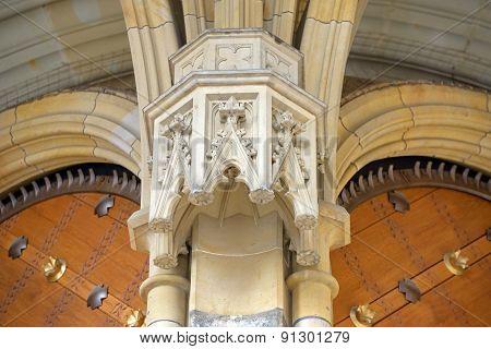 Bracket Under Vault Of Golden Gate, St. Vitus Cathedral, Prague.