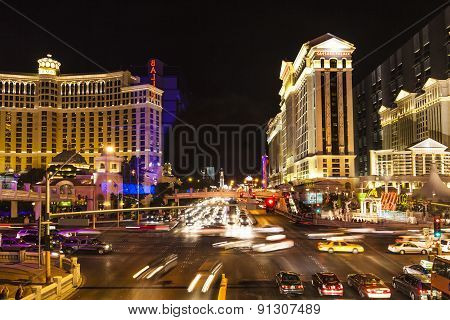 The Strip In Las Vegas At Night