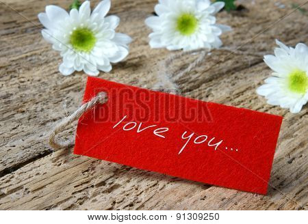 Love background with love you miss you message feeling when confession on abstract wooden background can use on valentine day mother day or celebrate love day poster