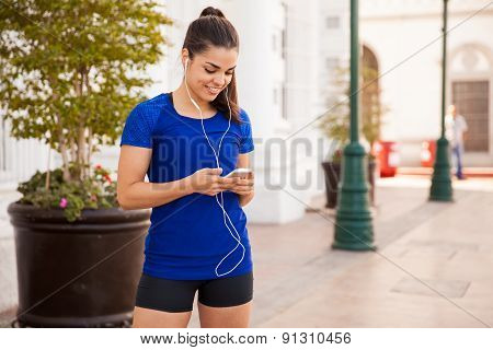 Runner Listening To Some Music