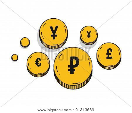 Golden Coins Icons