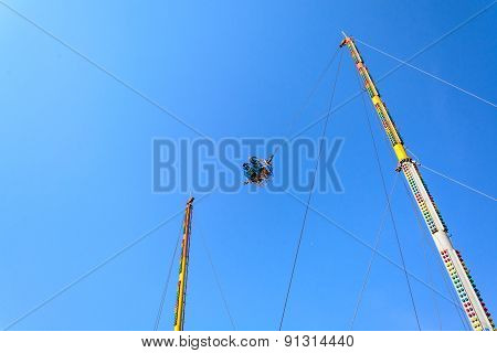 Reverse Bungee With Blue Sky