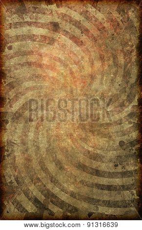 Grunge Vintage Paper Swirl Pattern Poster Background