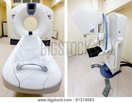 Medical Ct Scanner And Linear Accelerator Collage
