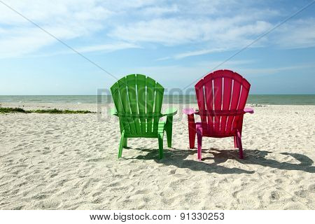 Adirondack Beach Chairs With Ocean View