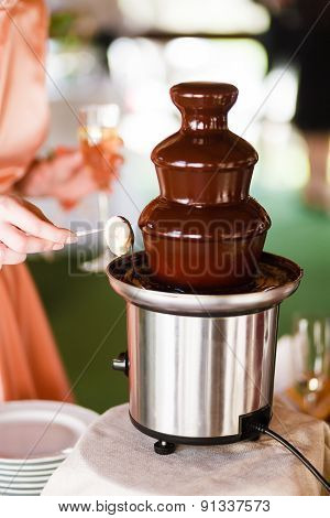 Chocolate Fountain Catering At The Party