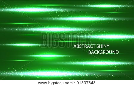Green background with glow and strips