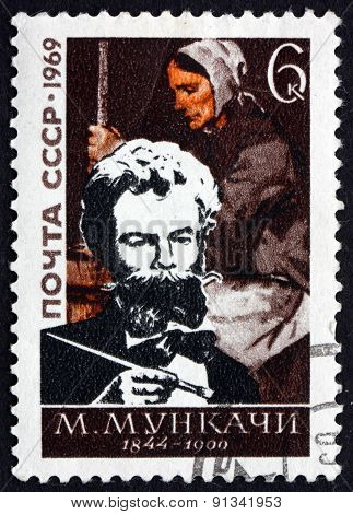 Postage Stamp Russia 1969 Mihaly Von Munkascy, Painter