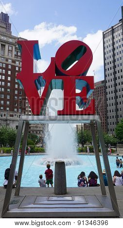 The Love Park named after the Love statue in Philadelphia