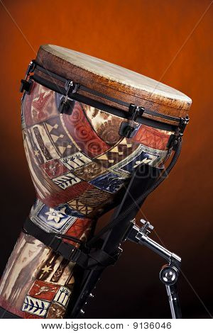 African Latin Djembe Drum Isolated