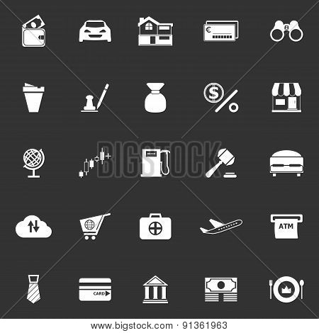 E Wallet Icons On Gray Background