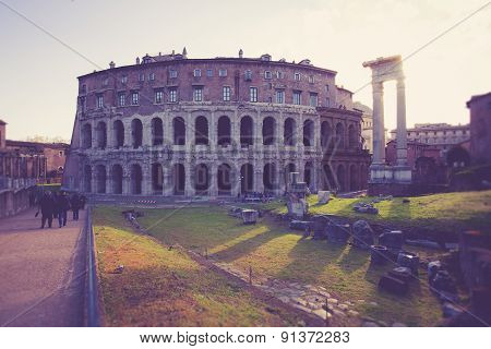 The Theatre of Marcellus in Rome, Italy