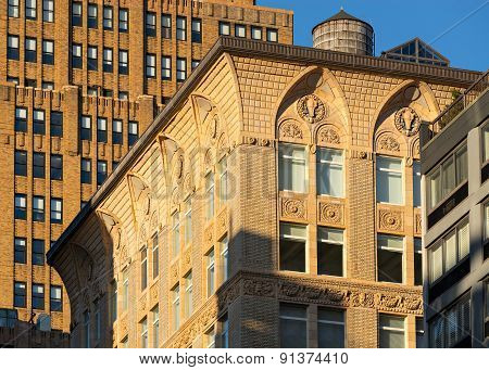 Terra Cotta Ornament Of Chelsea Loft Building, New York City
