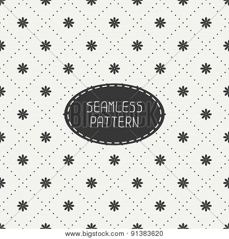 Geometric floral seamless pattern with flowers. Wrapping paper. Paper for scrapbook. Tiling. Beautif