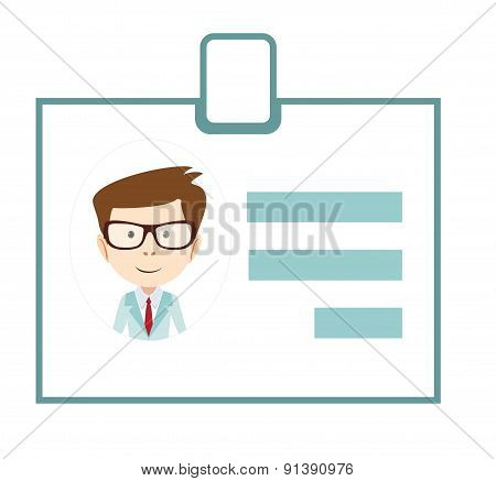 Badge ID icon business id sign badge personal name avatar