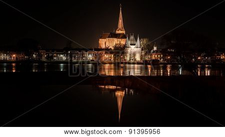 Night Pictures Of The Historical City Kampen, Overijssel, Netherlands