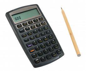 Calculator With Pencil