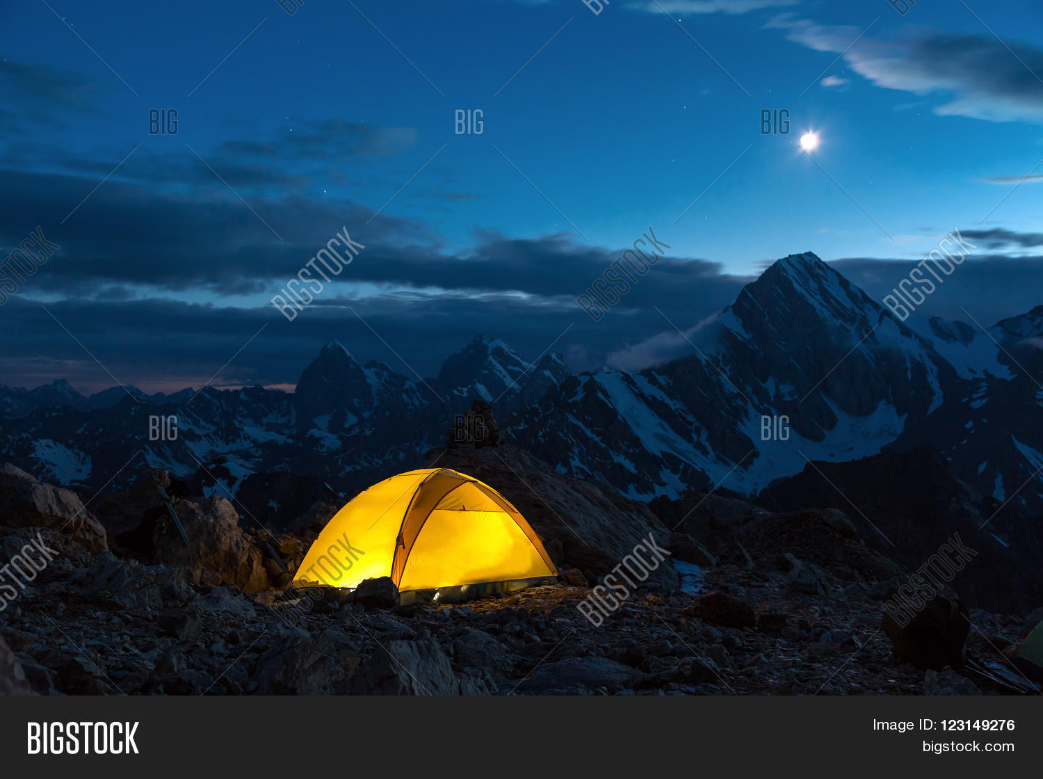 Illuminated Camping Image & Photo (Free Trial) | Bigstock