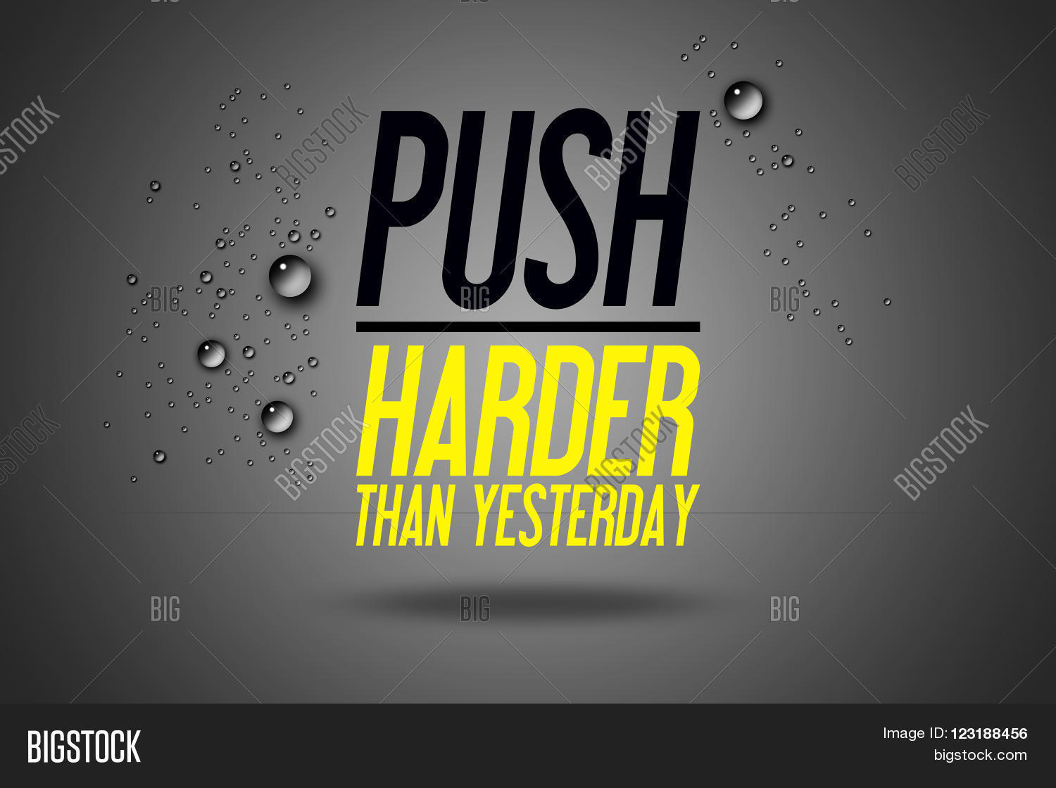 Push Harder Than Yesterday   Advertisement Quotes Workout Sports    Motivation   Fitness Center   Motivational