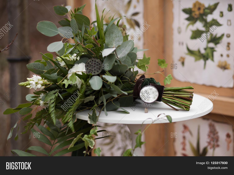Green Wedding Bouquet Image Photo Free Trial Bigstock