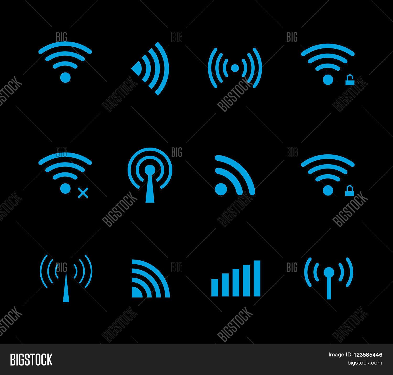 Neon futuristic vector wireless vector photo bigstock neon futuristic vector wireless and wifi icon for remote access and communication via radio waves buycottarizona Choice Image