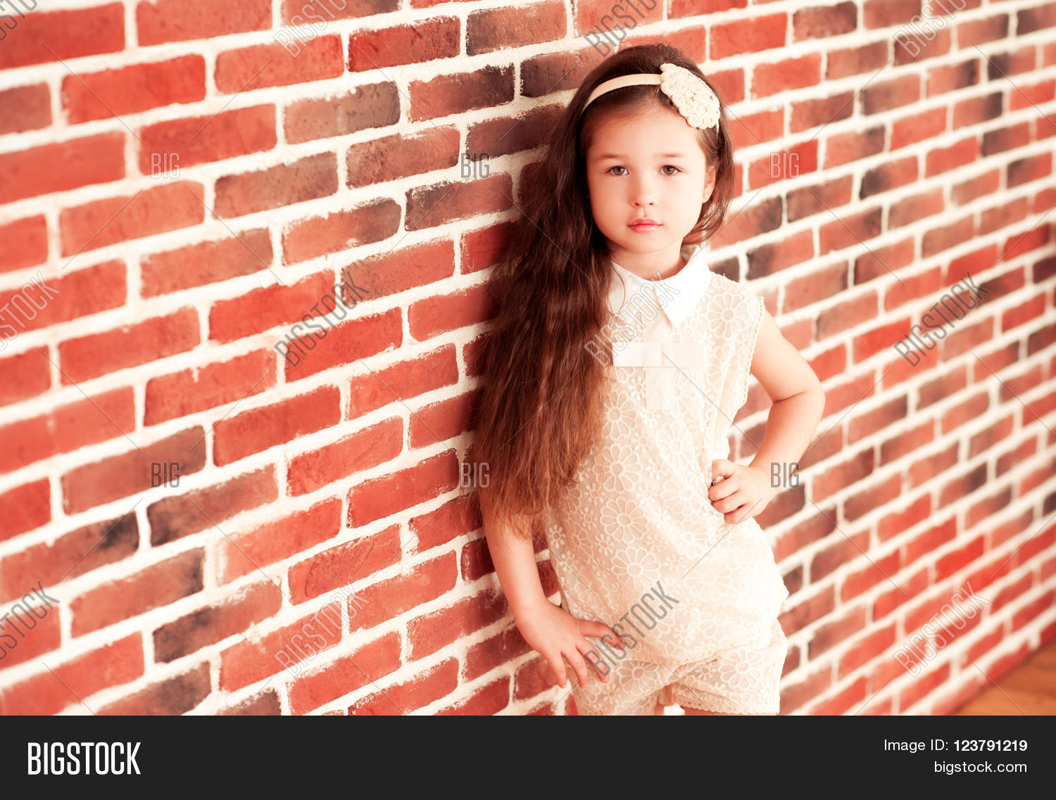 Beautiful Baby Girl 4 5 Year Old Image Photo Bigstock