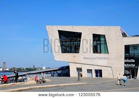 LIVERPOOL, UK - JUNE 11, 2015 - The Ferry Building at Pier Head Liverpool Merseyside England UK Western Europe, June 11, 2015.