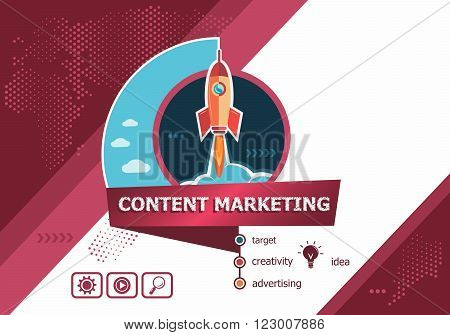 Content Marketing Design Concepts For Business Analysis, Planning, Consulting, Team Work
