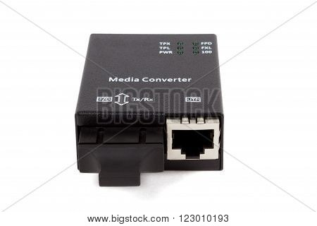 mini fiber optic Media converter with metalic RJ45 connector and SC fiber Optic connector