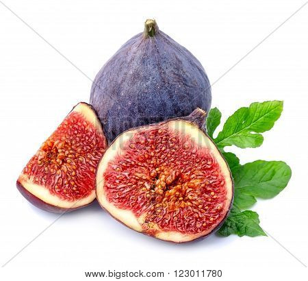 Fresh figs fruits isolated on white backgrounds.