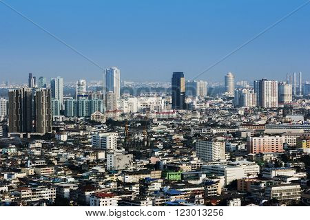 Aerial view of Bangkok, capital of Thailand