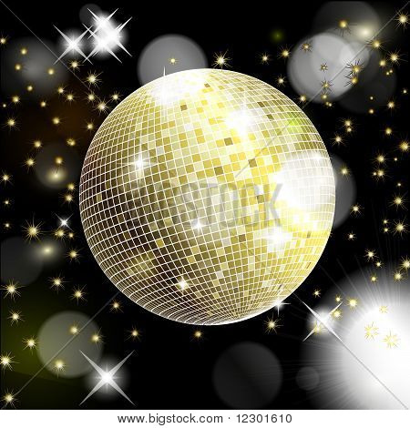 Abstract Background With Disco Ball