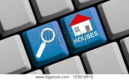 Search for Houses online - Symbols on Computer Keyboard