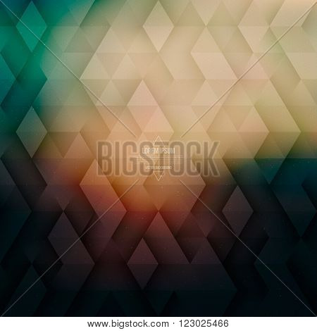 Vector technology abstract geometric background. Vector glow background. Abstract vector pattern. Vector geometric structure. Triangular vector background. Retro vector background. Hipster background