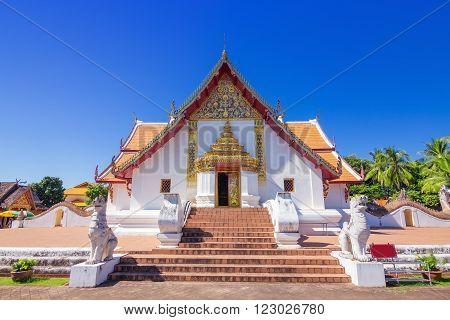 Buddhist temple of Wat Phumin in Nan, Thailand